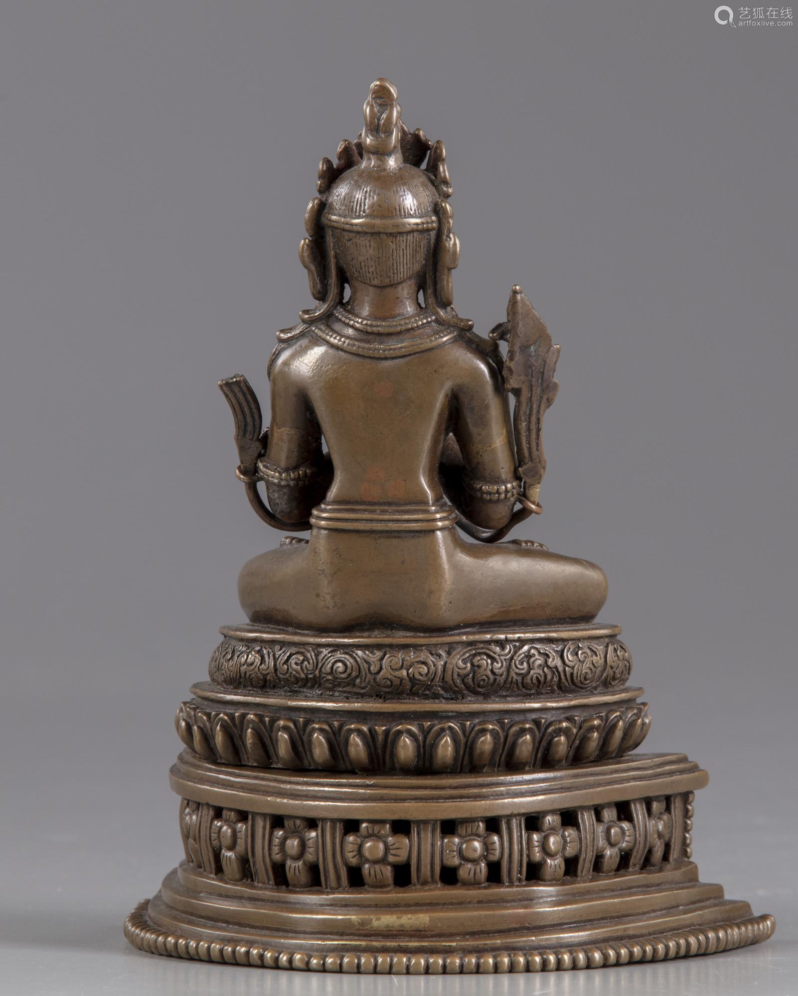 A Nepalese bronze figure of Vairocana