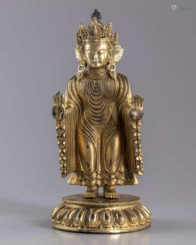 Agilr bronze figure of buddha