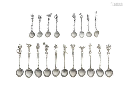 19th/20th century  A collection of Italian figural spoons