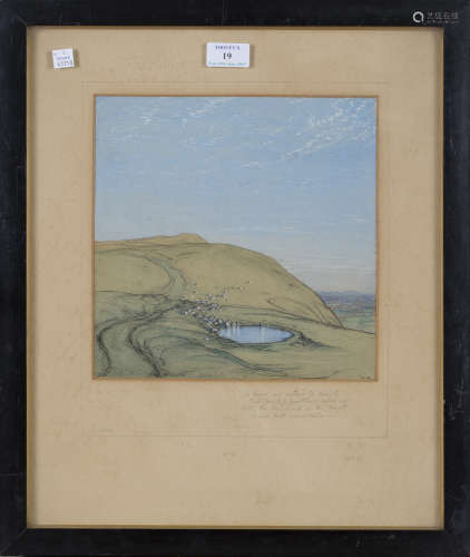 Donald Maxwell - 'Sussex', early 20th century watercolour, ink and coloured chalks, signed with