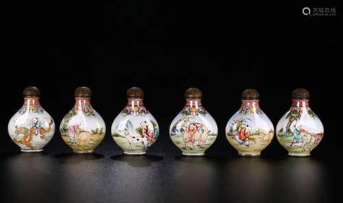 Cloisonne 12 Chinese Zodiac Snuff Bottles