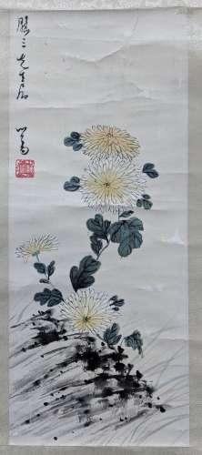 溥儒 花卉 紙本 立軸