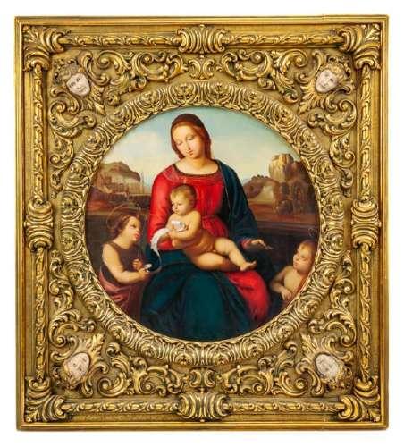 Italian (Late 19th Century) The Holy Family oil on