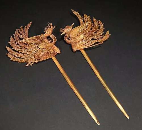 ROYAL STYLE GLOD PHONIX HAIRPIN FOR 2