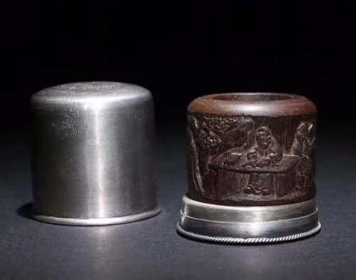 CHENXIANG WOOD RING & SILVER BOX