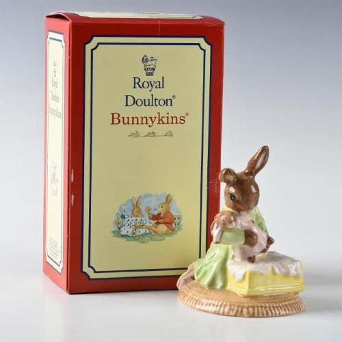 ROYAL DOULTON BUNNYKINS FIGURINE SWEET DREAMS BABY