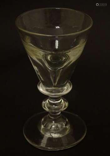 Glass: a late Georgian Toastmasters / Illusion wine