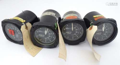 Militaria: A collection of four mid-20thC avionic