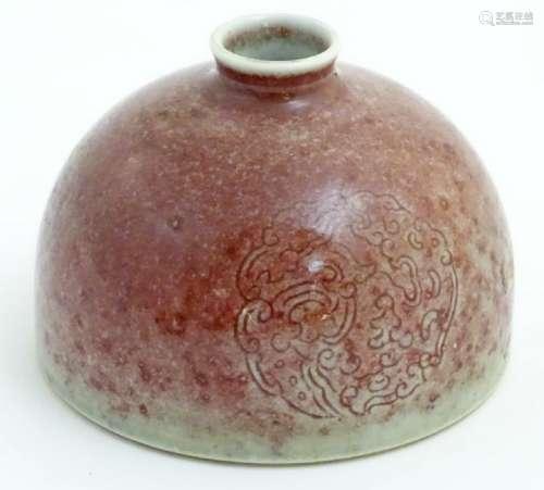 A Chinese sang-de-boeuf pot/taibai zun formed as a