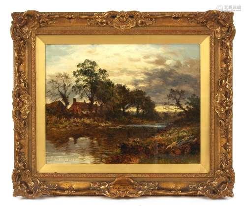 Property of a deceased estate - Benjamin Williams Leader (1831-1923) - 'A RIVERSIDE COTTAGE,