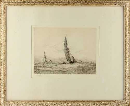 Property of a gentleman - William Lionel Wyllie R.A. R.W.S. (1851-1931) - 'SUNSHINE IN THE SOLENT' -