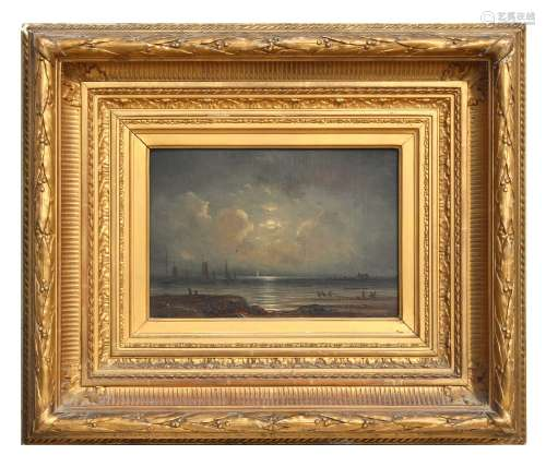Property of a lady - Henrietta Gudin (1825-1876), attributed to - MOONLIT COASTAL SCENE WITH