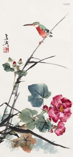 王雪涛(1903~1982) 芙蓉小鸟 立轴 设色纸本