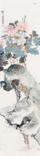 任颐(1840~1895) 富贵孔雀 立轴 设色纸本