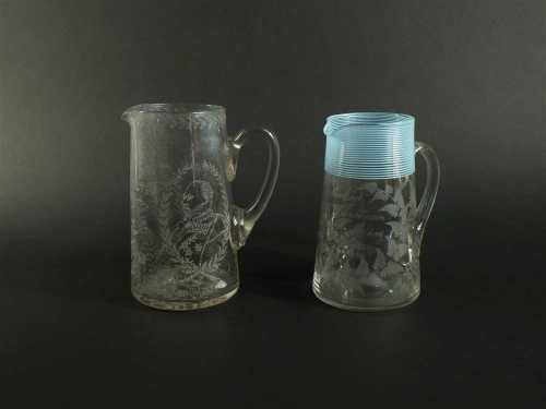 Two English glass water jugs