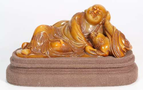 SHOUSHAN TIANHUANG STONE LUO HAN ORNAMANT