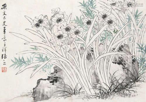 张熊(1803~1886) 水仙 镜心 设色纸本