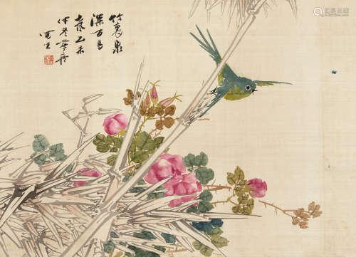 朱偁(1801~1860) 1895年作 花鸟 镜心 设色绢本