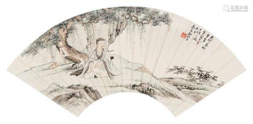 郑慕康(1901~1982) 1939年作 松下高士 镜心 设色纸本