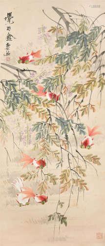 虚谷(1823~1896) 金玉满堂 立轴 设色纸本