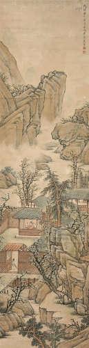 李承熊(1817~1883) 山水 立轴 设色纸本