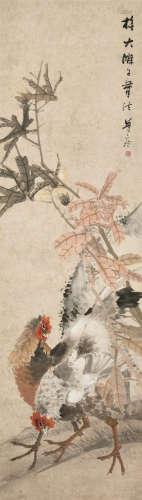 朱偁(1826~1900) 大吉图 镜心 设色纸本