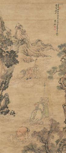 张士保(1805~1878) 罗汉 立轴 设色纸本