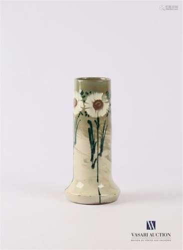 ELCHINGER Vase en faïence émaillée à décor polychr…