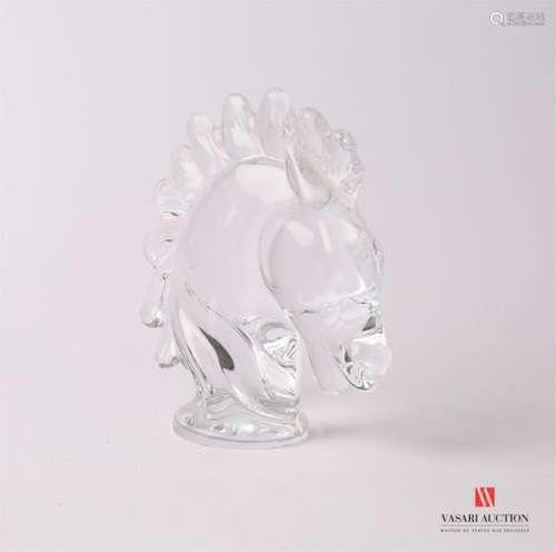 ART VANNES Sujet en verre représentant une tête de…