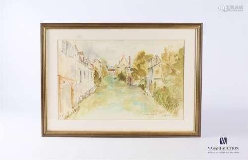 BRILLOU P (XXème siècle) Chartres Aquarelle sur pa…