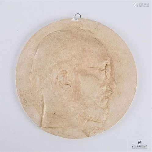 DAUTEL Pierre (1873 1951) Autoportrait Médaillon e…