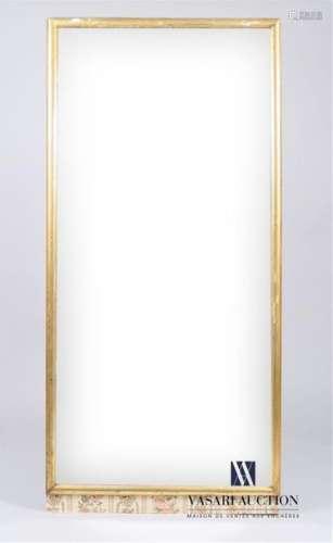 Miroir de cheminée ornée d'un jonc en bois redoré …