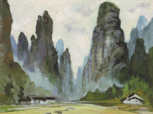 步欣农(b.1938) 奇峰丛生 油画