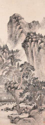 萧俊贤(1865~1949) 山水 立轴 设色纸本