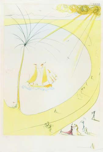 萨尔瓦多·达利(1904~1986) 帆船 版画