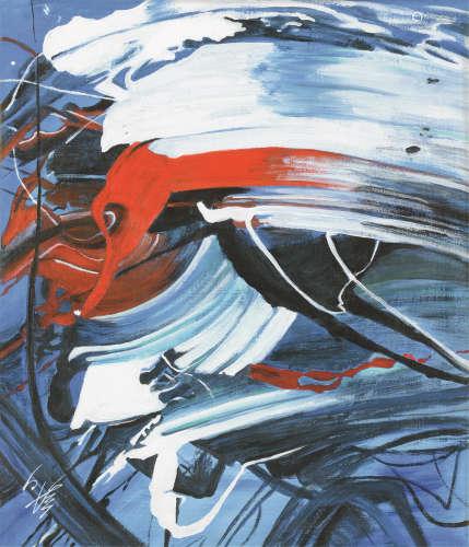 白发一雄(1924~2008) 无题 油画