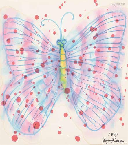 草间弥生(b.1929) 蝴蝶 镜心 设色纸本