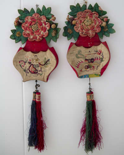 A pair of Chinese textiles