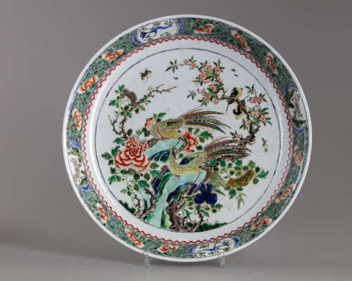 A Chinese famille verte 'pheasant' charger