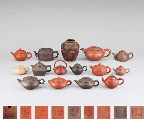 各式紫砂壶 茶叶罐等 一批