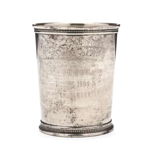 A Sterling Silver Mint Julep Cup by Mark J. Scearce