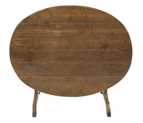 Continental Pine Tilt-Top Wine Tasting Table