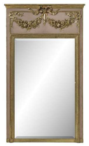 French Belle Epoque Giltwood and Painted Mirror