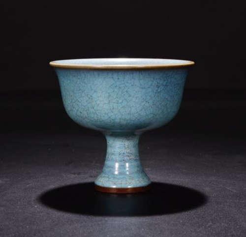 A JUNYAO BLUE GLAZE CUP